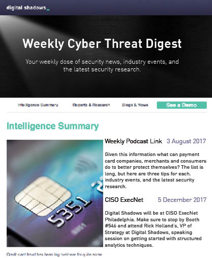 Digital Shadows Cyber Threat Digest