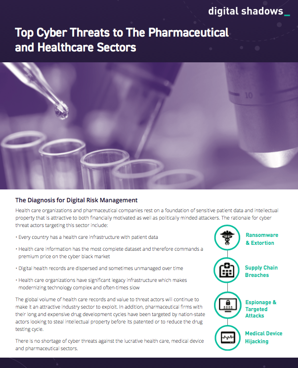 Top Cyber Threats to the Pharmaceutical and Healthcare Sectors
