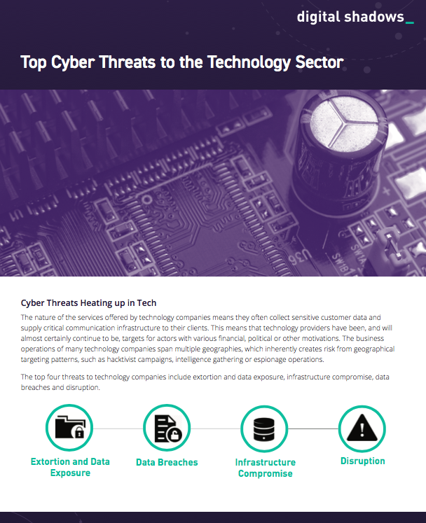 Top Cyber Threats to the Technology Sector