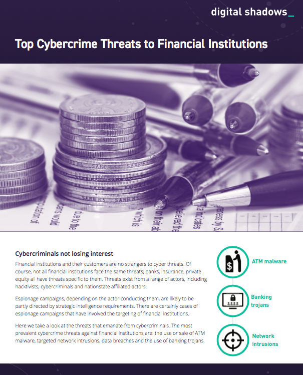 Top Cybercrime Threats to Financial Institutions