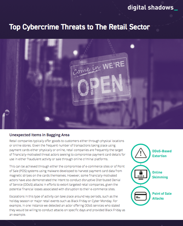 Top Cybercrime Threats to the Retail Sector
