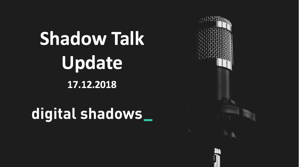 ShadowTalk Update – 17.10.2018