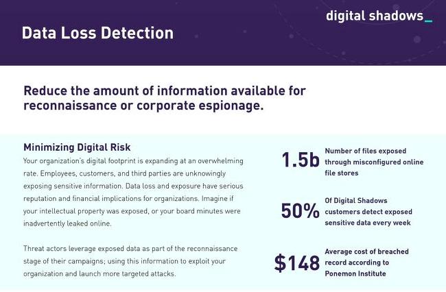 data loss detection datasheet