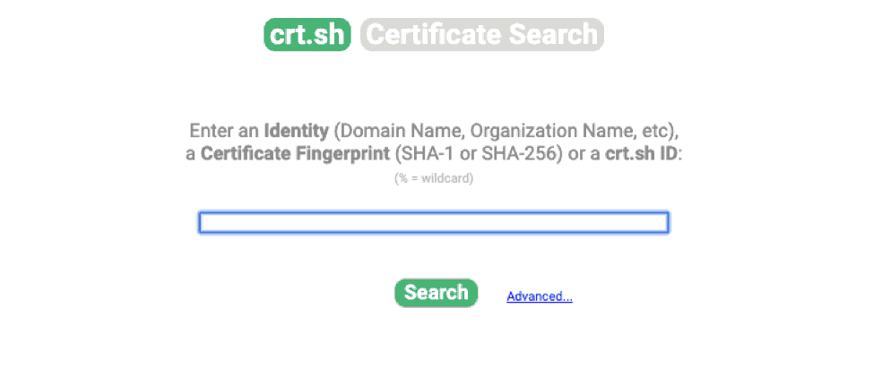 crt certificate search