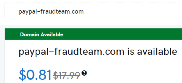 fraud example paypal