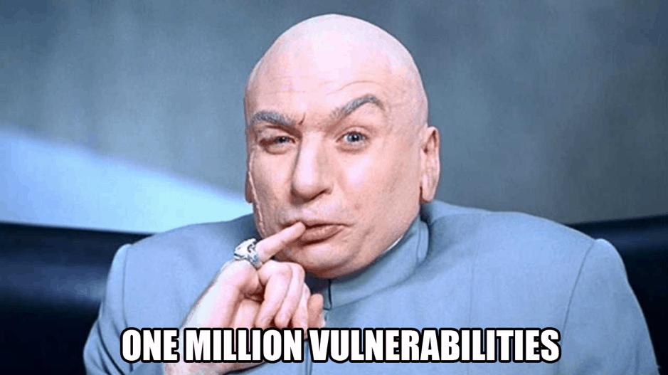 one million vulnerabilities