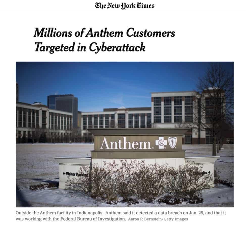 anthem cyber breach