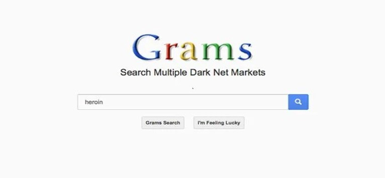 Grams interface dark web search engine