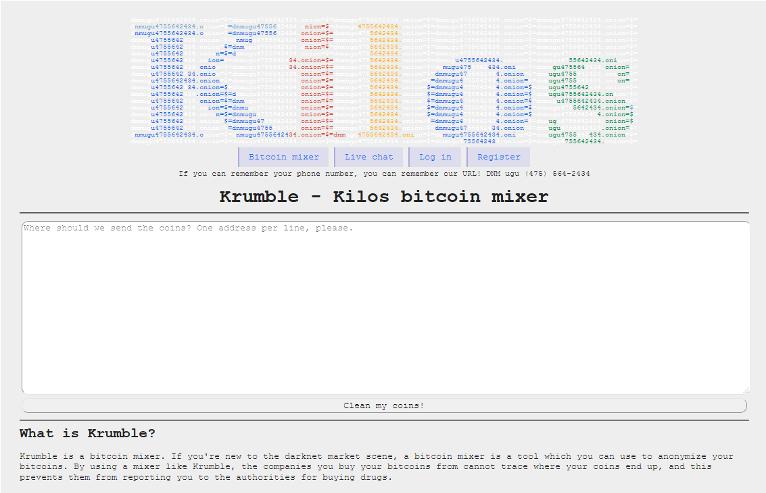 bitcoin mixer service krumble