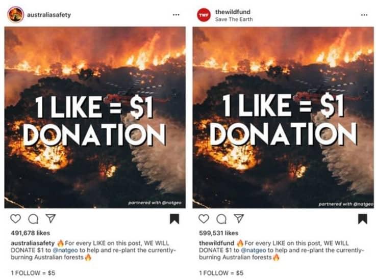 fake crowdfunding efforts Australian efforts