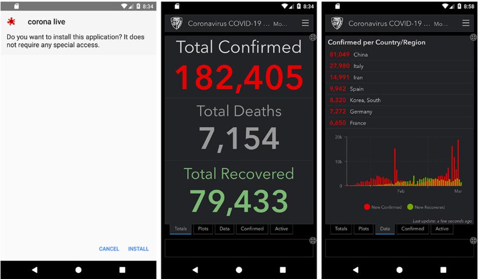 Screenshot of SpyMax sample