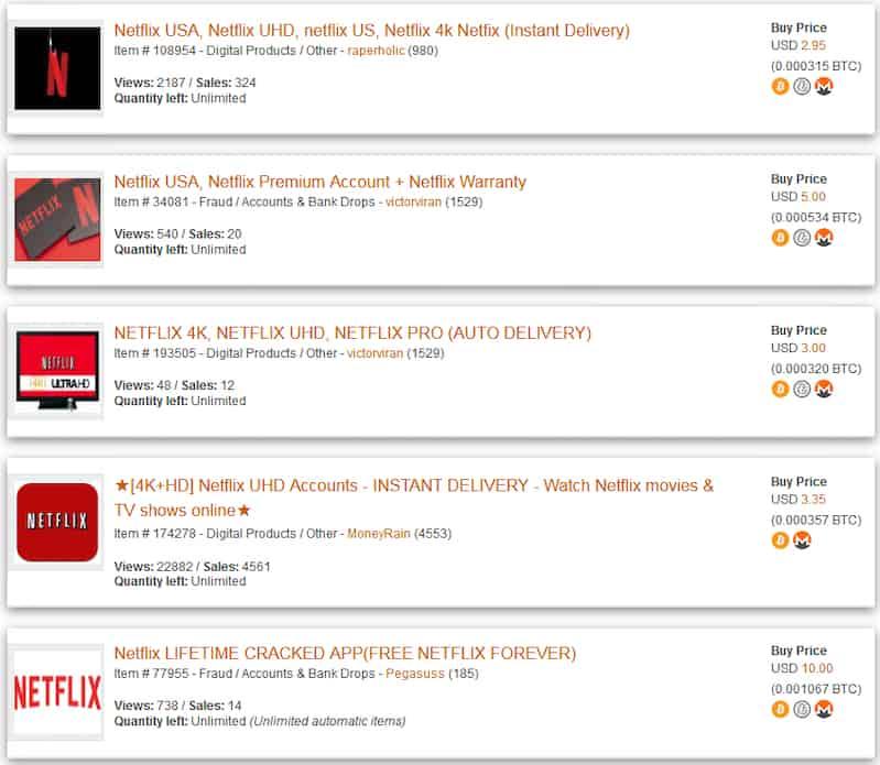 Zugangsdaten zum Streamingdienst Netflix auf Empire Marktplatz