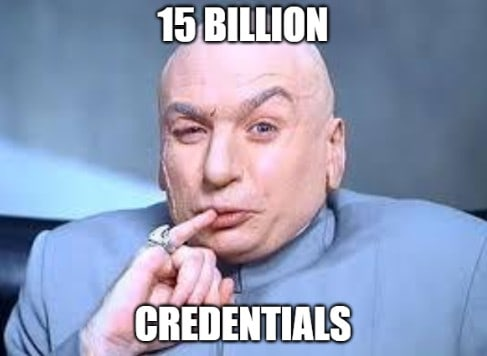15 billion credentials