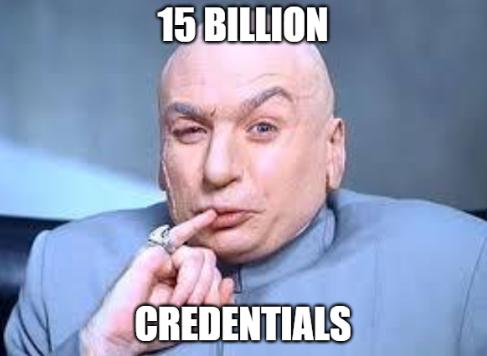 15 billion credentials