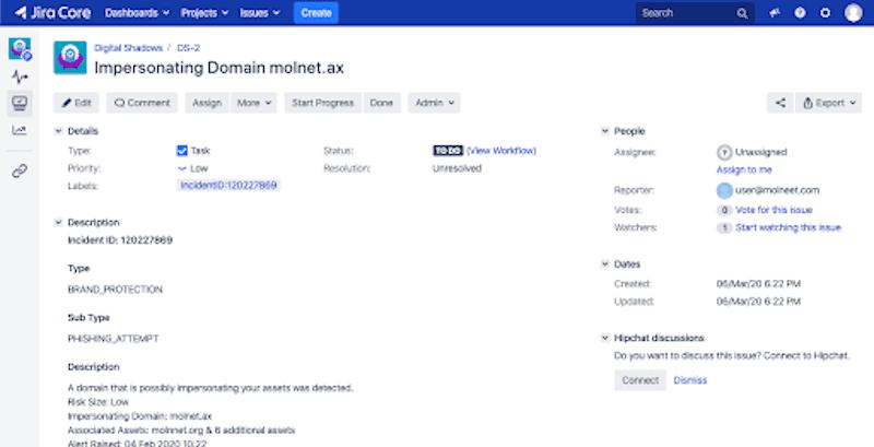 Jira Atlassian SearchLight  Integration