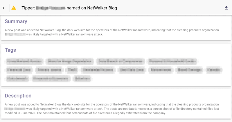 Tipper named on NetWalker