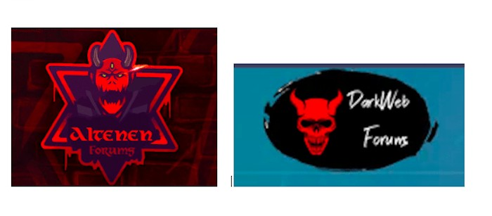 Alten and Dark Web Forums Logo