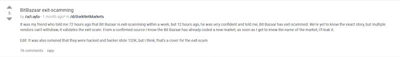 BitBazaar Exit