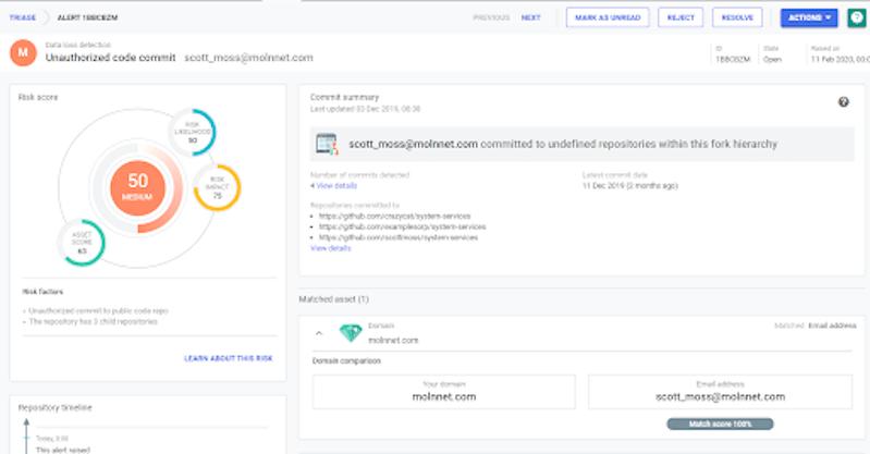 unauthorized code commits alert
