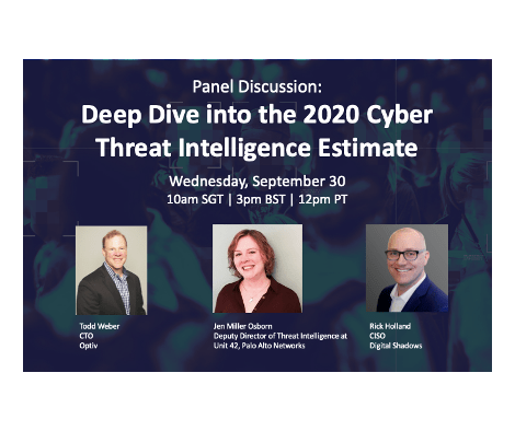 Recorded Panel Discussion: Deep Dive into the 2020 Cyber Threat Intelligence Estimate