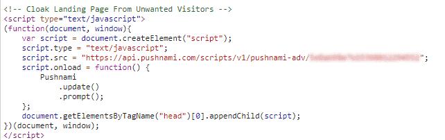 Pushnami API