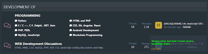 Programming section in Altenen Forum