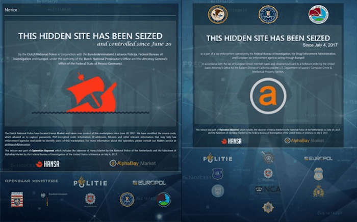 Seizure notice on Hansa and AlphaBay