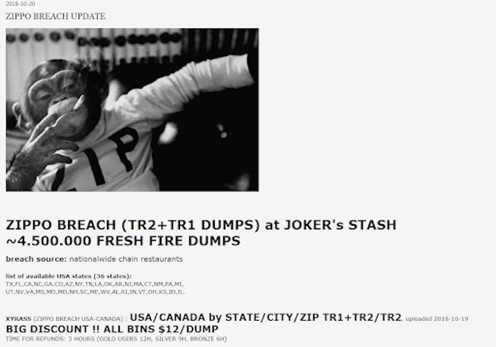 New stock on the Joker's Stash website