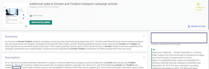 Emotet and Trickbot incident briefing