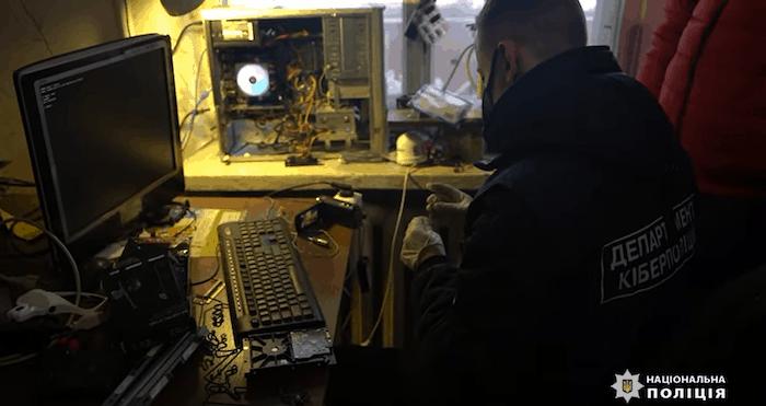Ukrainian law enforcement raid video