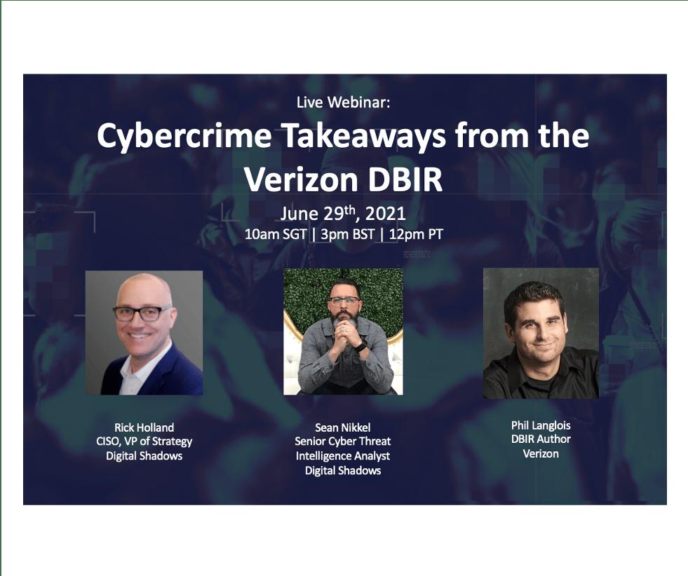 Live Webinar: Cybercrime Takeaways from the Verizon DBIR