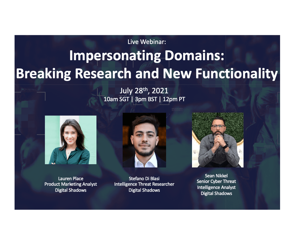 Recorded Webinar:  Impersonating Domains: Breaking Research and New Functionality