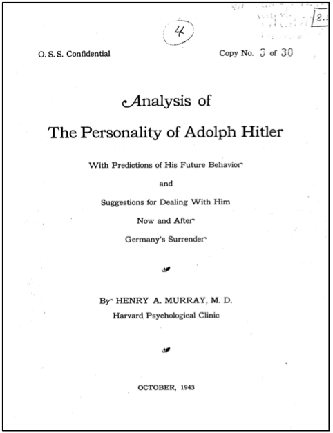 an analysis of motivations of adolph hitler Adolph hitler, and the german if one starts here to consider hitler's motivation it would be a ground to accuse that person of hatred, nazism and fascism propaganda which is forbidden what was hitler's reason and motivation behind the initiation of the holocaust.