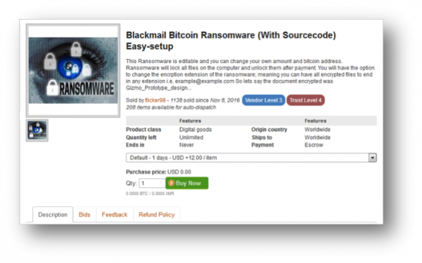 Figure 2 ransomware sourcecode dark web