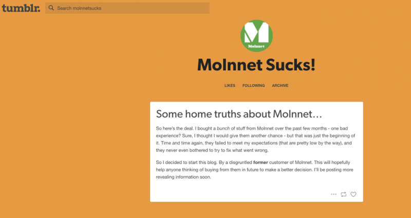 Molnnet Defamation